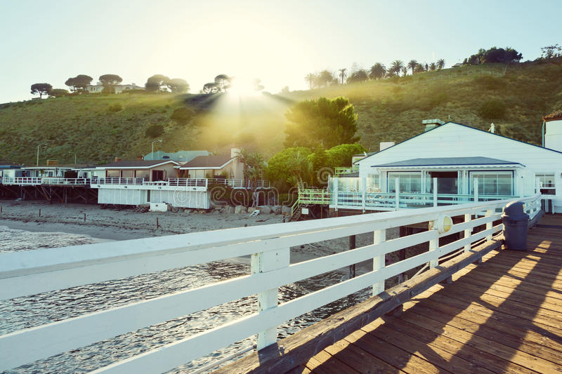 Αποβάθρα Malibu, Malibu, Καλιφόρνια, ΗΠΑ στοκ φωτογραφία με δικαίωμα ελεύθερης χρήσης