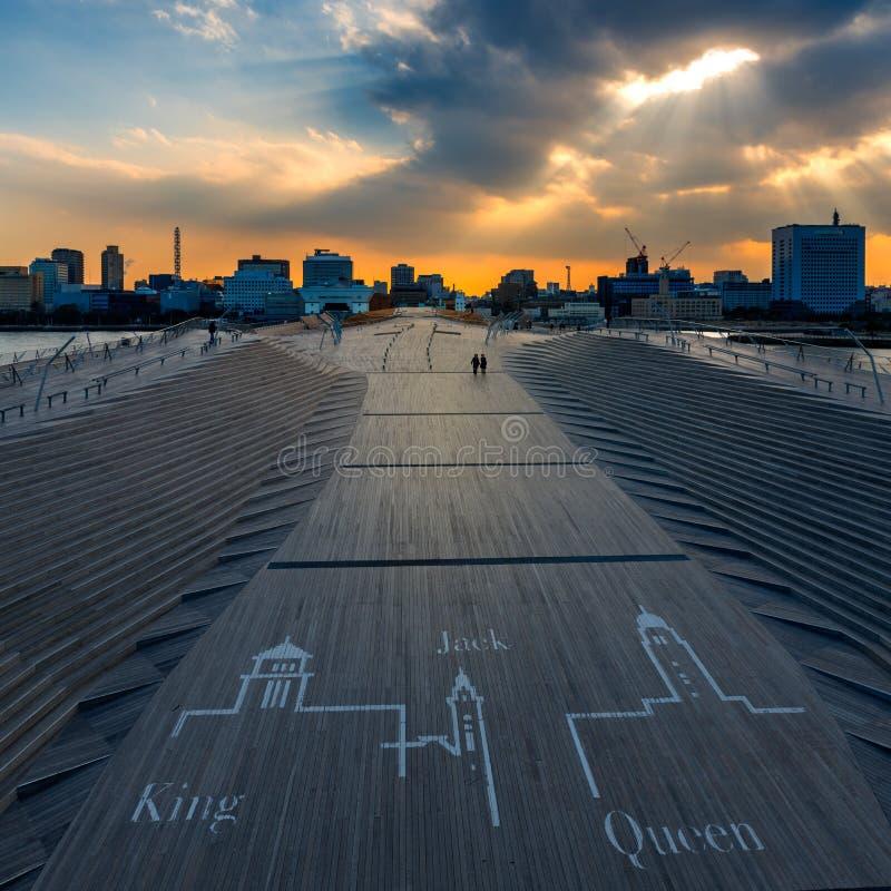 Αποβάθρα osanbashi Yokohama, Ιαπωνία στοκ εικόνες με δικαίωμα ελεύθερης χρήσης