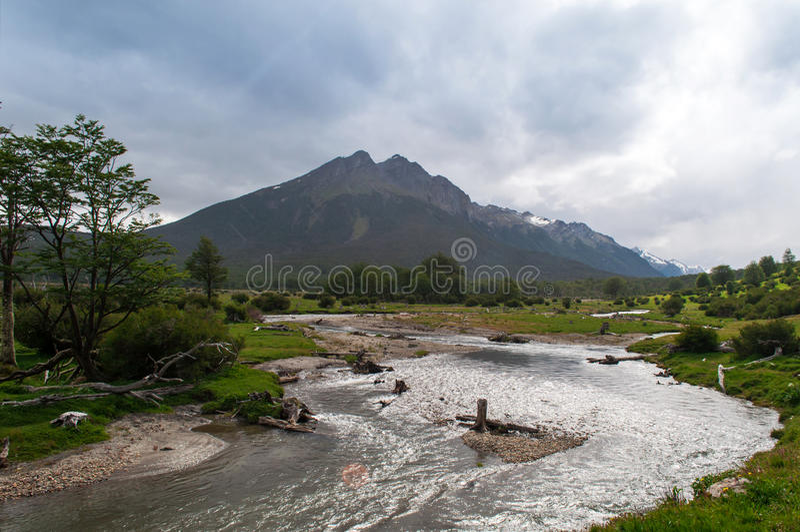 Αποβάθρα Ushuaia, Αργεντινή στοκ φωτογραφία