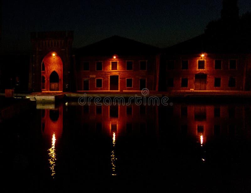 Αποβάθρες σε Arsenale στη Βενετία στοκ εικόνες
