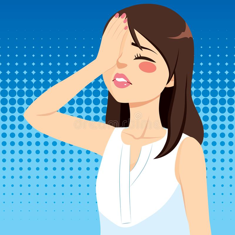 Απογοητευμένος γυναίκα φοίνικας προσώπου απεικόνιση αποθεμάτων