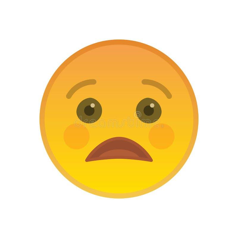 Απογοητευμένος emoticon απομονωμένος στο άσπρο υπόβαθρο απεικόνιση αποθεμάτων
