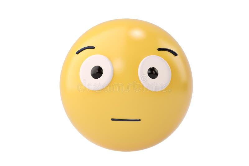 Απογοητευμένος emoticon τρισδιάστατη απεικόνιση απεικόνιση αποθεμάτων
