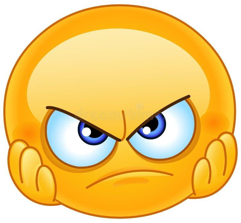 Απογοητευμένος emoticon ελεύθερη απεικόνιση δικαιώματος