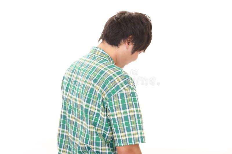 Απογοητευμένο ασιατικό άτομο στοκ εικόνα με δικαίωμα ελεύθερης χρήσης