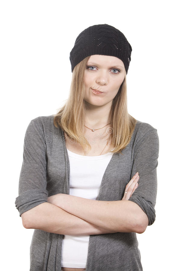 Download απογοητευμένο κορίτσι στοκ εικόνα. εικόνα από ομάδων - 13183795