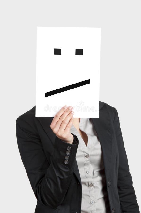 Απογοητευμένο πρόσωπο στοκ φωτογραφία