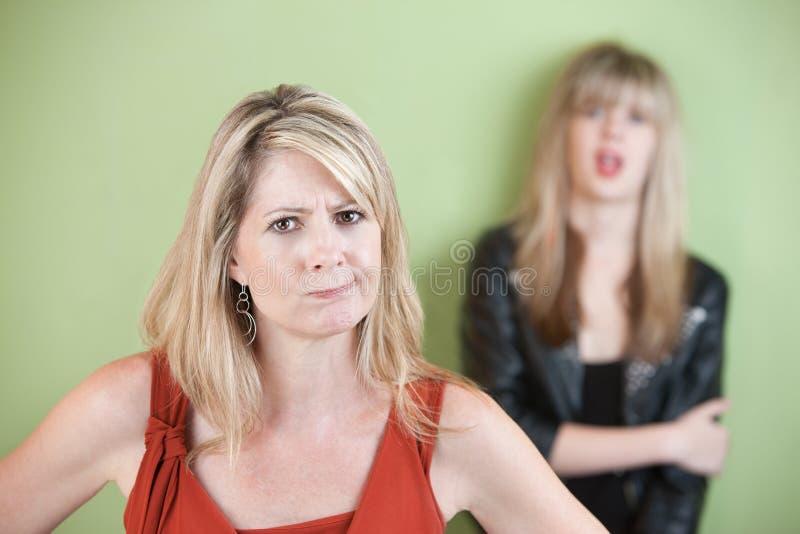 Απογοητευμένο Mom στοκ φωτογραφία