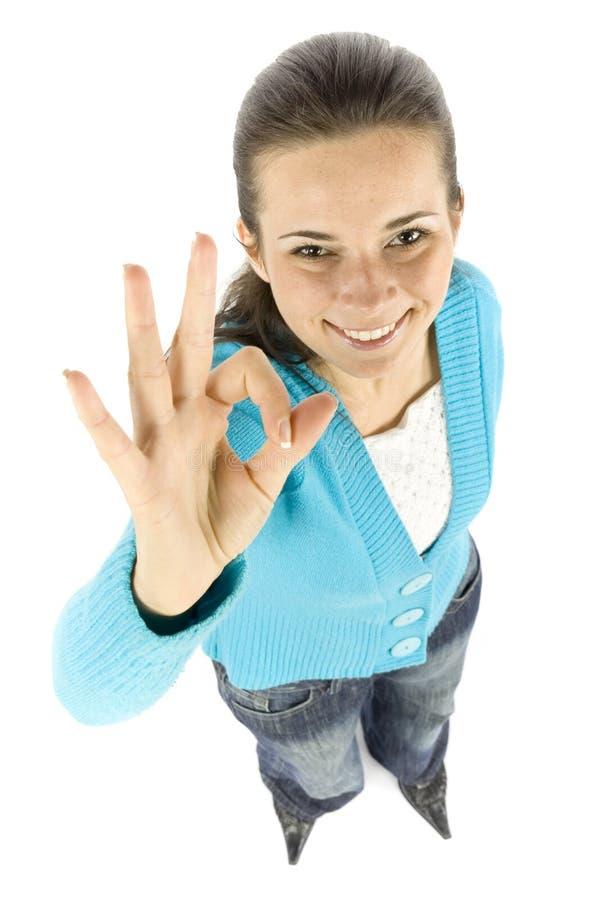 αποδέχεται τη γυναίκα στοκ φωτογραφία με δικαίωμα ελεύθερης χρήσης