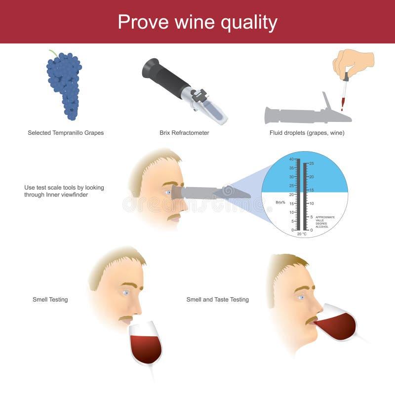 Αποδείξτε την ποιότητα κρασιού Απεικόνιση infographic ελεύθερη απεικόνιση δικαιώματος