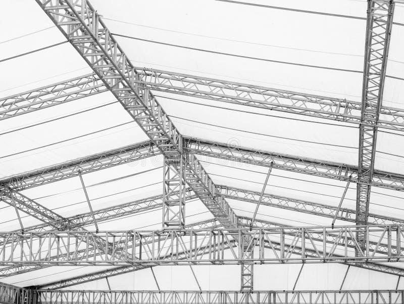 Αποθήκη εμπορευμάτων βιομηχανίας λεπτομερειών αρχιτεκτονικής κατασκευής χάλυβα στοκ εικόνες