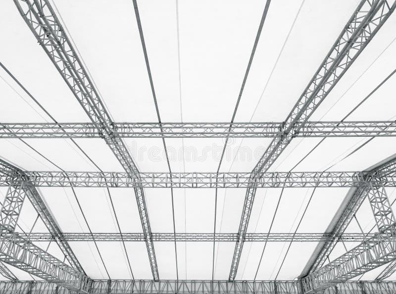 Αποθήκη εμπορευμάτων βιομηχανίας λεπτομερειών αρχιτεκτονικής πλαισίων οικοδόμησης κατασκευής χάλυβα στοκ εικόνες με δικαίωμα ελεύθερης χρήσης