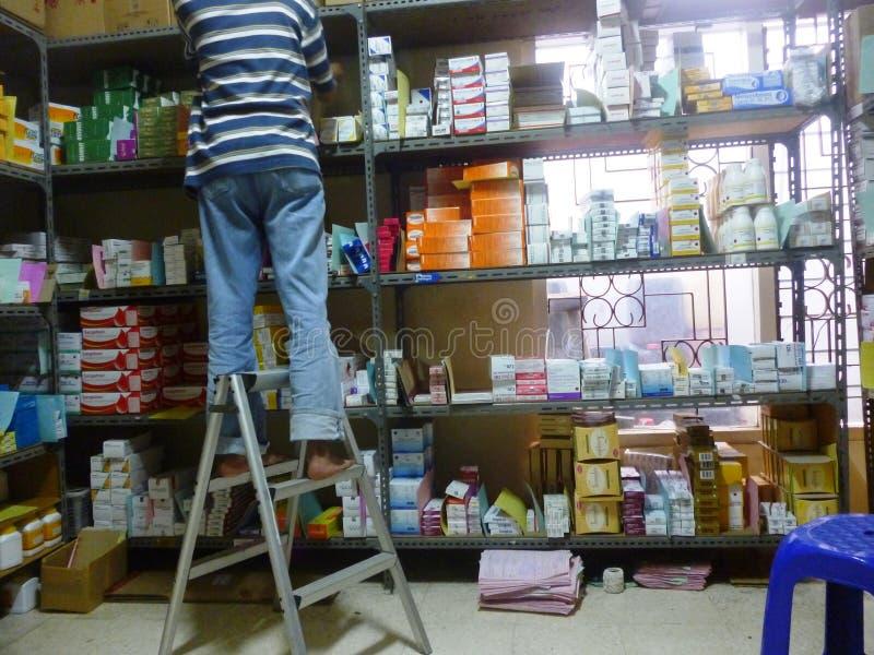 Αποθήκη εμπορευμάτων φαρμάκων στοκ φωτογραφία