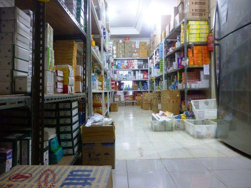 Αποθήκη εμπορευμάτων φαρμάκων στοκ φωτογραφίες