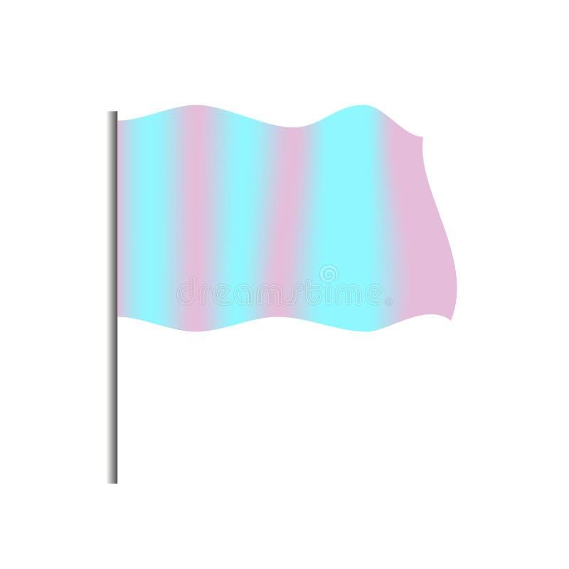 Αποθεμάτων διανυσματική στάση προτύπων σημαιών απεικόνισης κυματίζοντας στον πόλο χάλυβα διανυσματική απεικόνιση