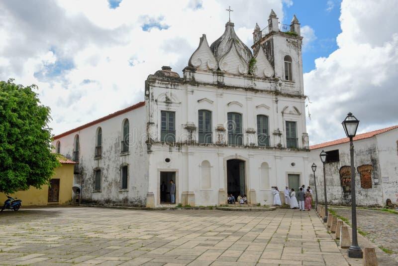 Αποικιακή εκκλησία στο Σάο Luis στη Βραζιλία στοκ φωτογραφία με δικαίωμα ελεύθερης χρήσης