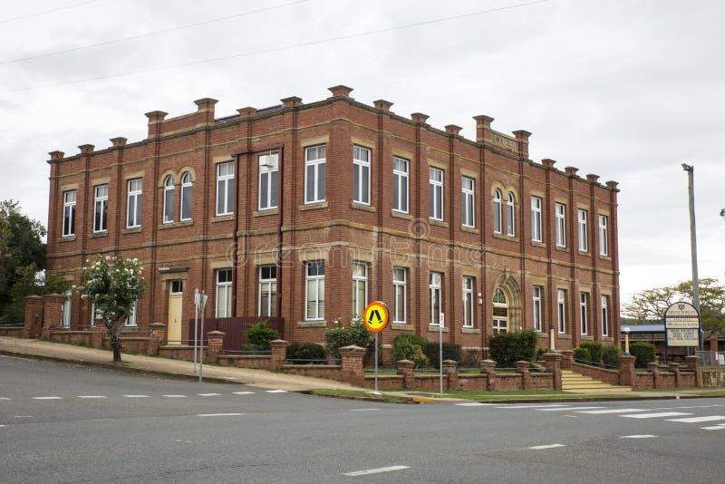 Αποικιακό σχολικό κτίριο εποχής Τοποθετήστε το Morgan στοκ φωτογραφία