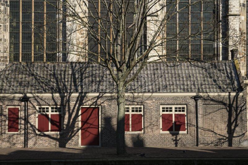 Αποκαλούμενο εκκλησία Grote Kerk, Dordrecht, οι Κάτω Χώρες στοκ εικόνες
