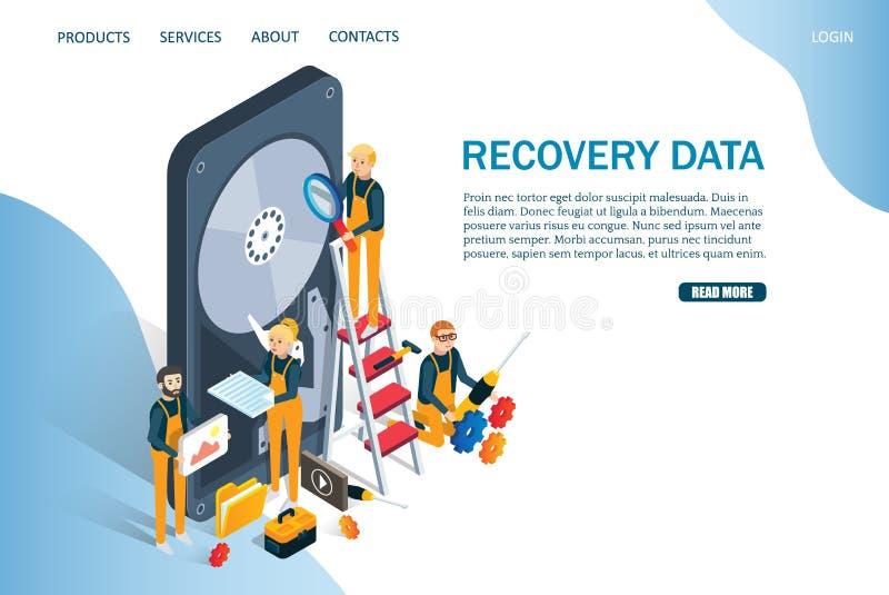 Αποκατάστασης στοιχείων διανυσματικό πρότυπο σχεδίου σελίδων ιστοχώρου προσγειωμένος ελεύθερη απεικόνιση δικαιώματος