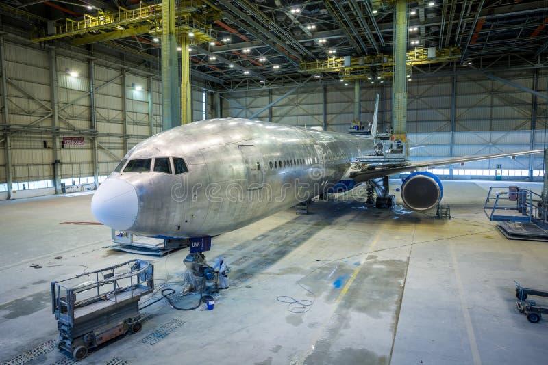 Αποκατάσταση ενός αεροπλάνου στοκ εικόνες με δικαίωμα ελεύθερης χρήσης