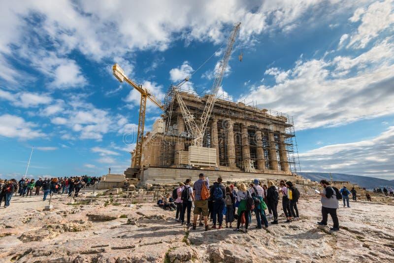 Αποκατάσταση της ακρόπολη στην Αθήνα, Ελλάδα στοκ φωτογραφίες