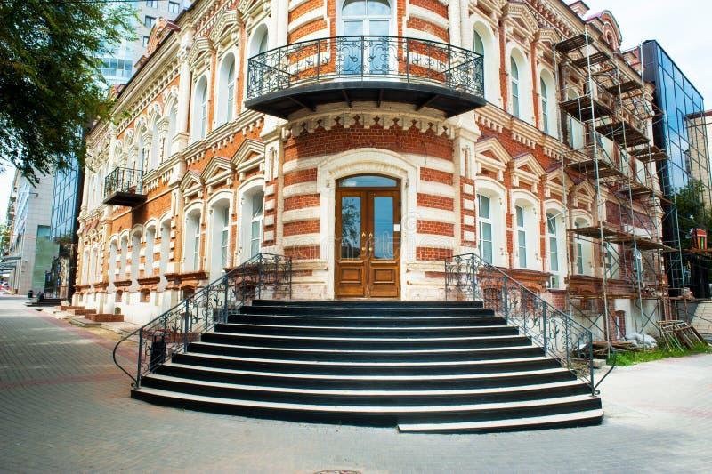 Αποκατάσταση του παλαιού κτηρίου, σκάλα στοκ φωτογραφίες με δικαίωμα ελεύθερης χρήσης