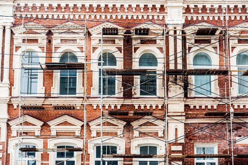 Αποκατάσταση του παλαιού κτηρίου στοκ εικόνες