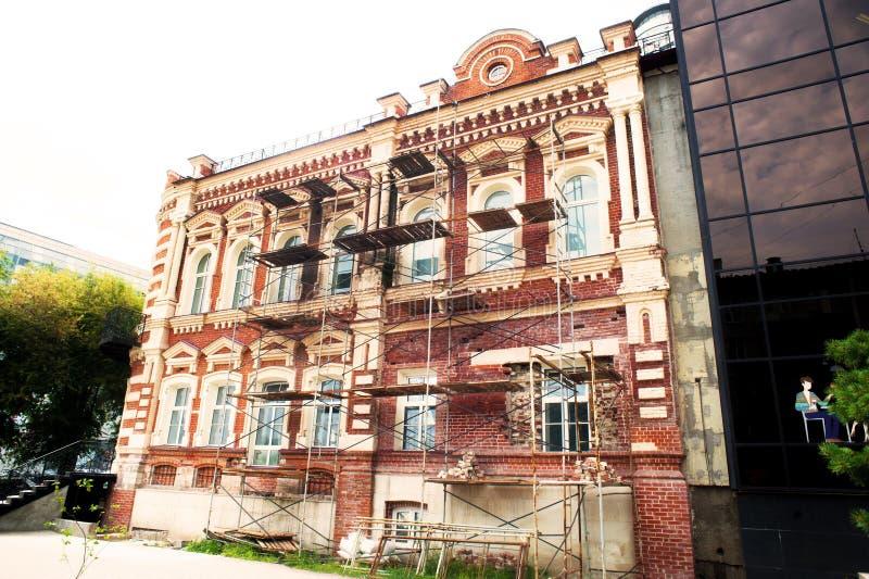 Αποκατάσταση του παλαιού κτηρίου στοκ φωτογραφία