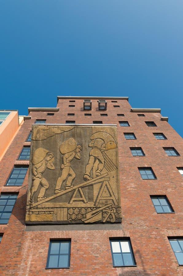 Αποκατεστημένο κτήριο εργοστασίων στοκ εικόνα με δικαίωμα ελεύθερης χρήσης