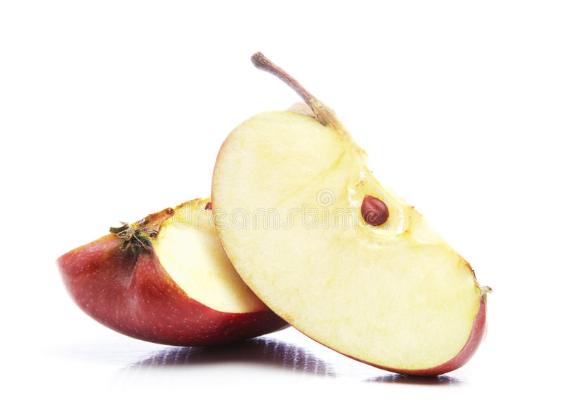αποκοπές μήλων στοκ φωτογραφία