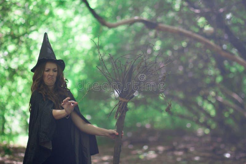 αποκριές Η μάγισσα είναι αστεία στοκ φωτογραφία με δικαίωμα ελεύθερης χρήσης