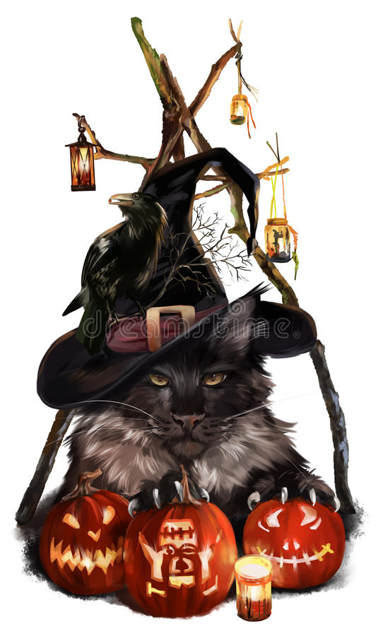 Αποκριές, ο γάτα-δαίμονας απεικόνιση αποθεμάτων