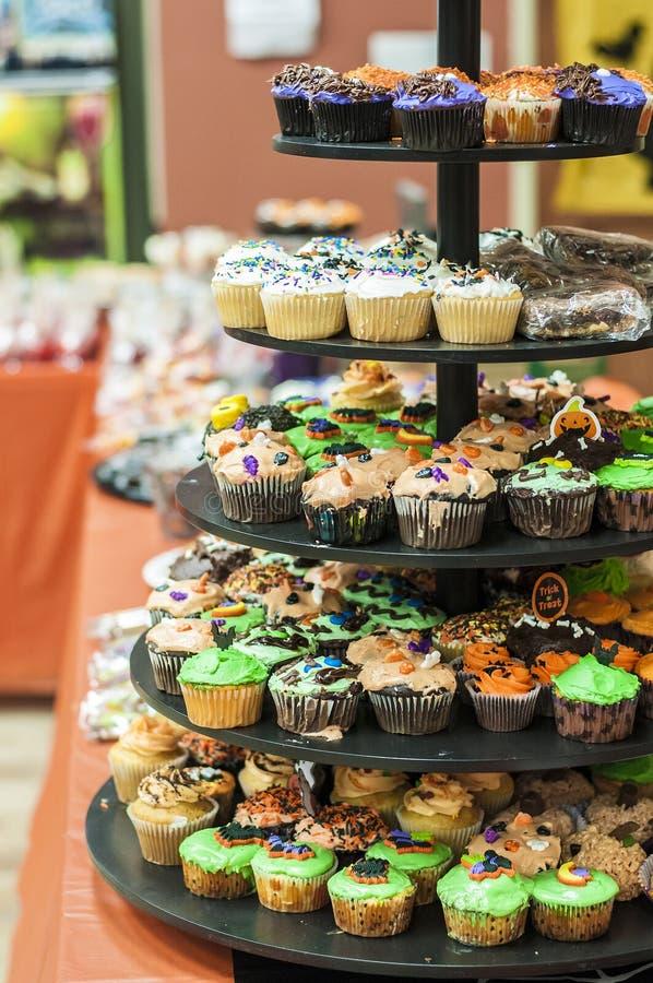 Αποκριές Cupcakes στοκ φωτογραφίες