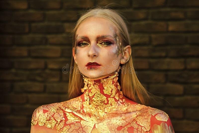 Αποκριές makeup, visage στοκ εικόνες