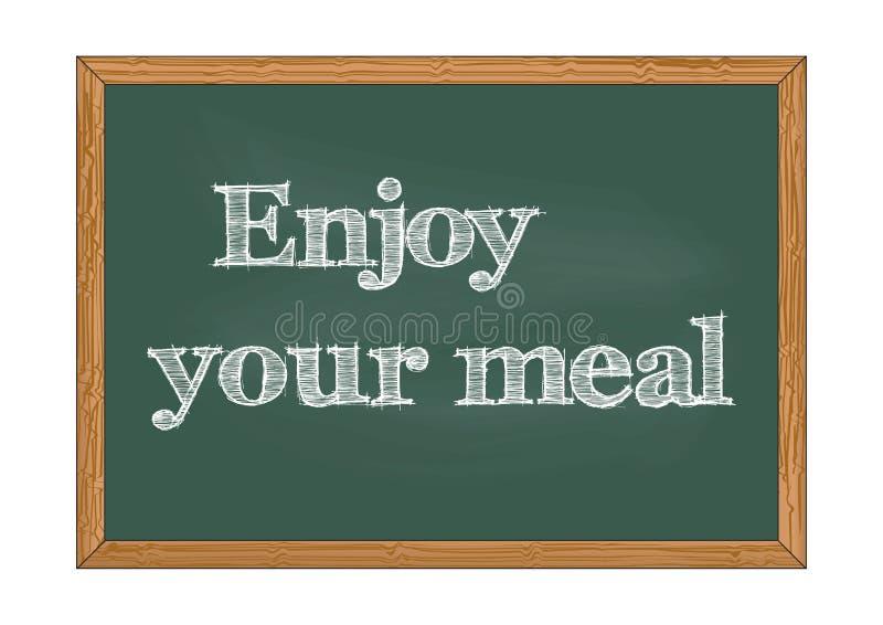 Απολαύστε τη διανυσματική απεικόνιση ειδοποίησης πινάκων κιμωλίας γεύματός σας απεικόνιση αποθεμάτων