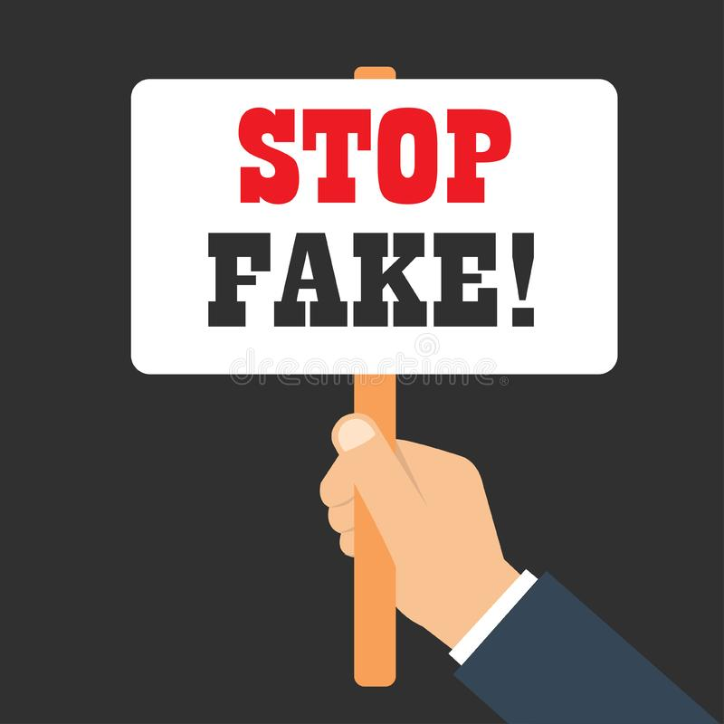 Απομίμηση FakeStop FakeStop στάσεων διανυσματική απεικόνιση