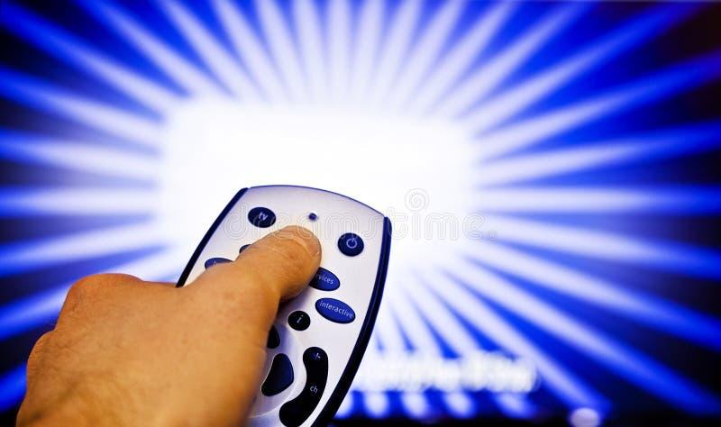 απομακρυσμένη TV ελέγχου στοκ εικόνα