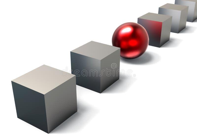 απομονωμένα άτομο ενέχυρα αριθμού έννοιας σκακιού ανασκόπησης τα μαύρα περιέβαλαν το λευκό απεικόνιση αποθεμάτων
