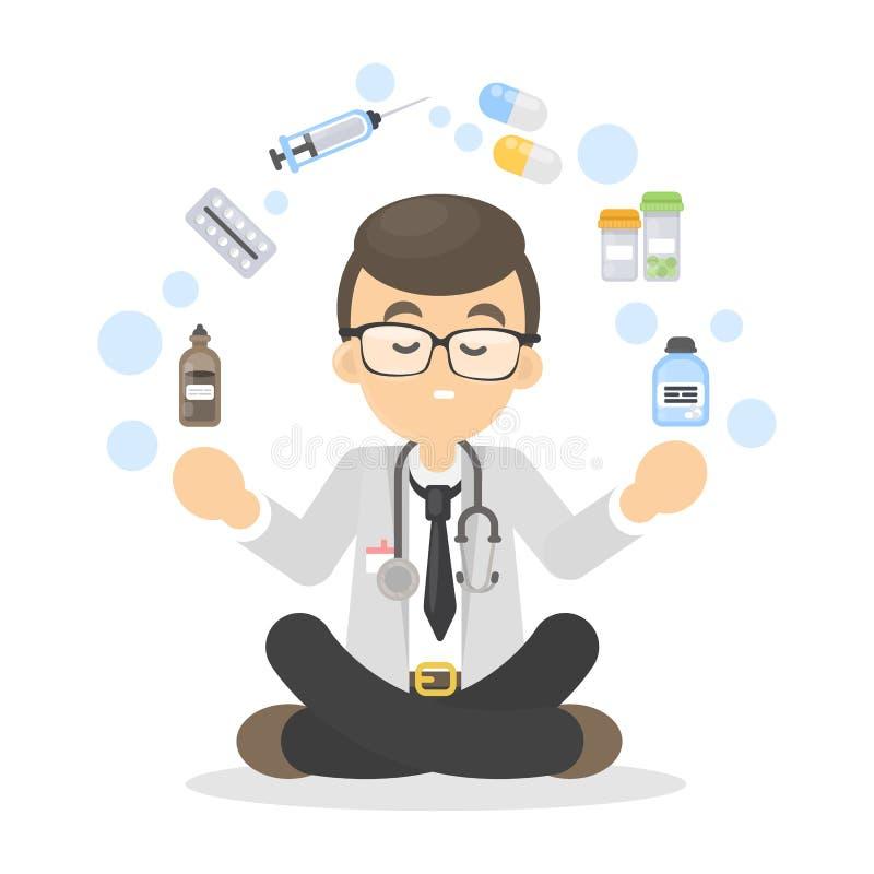 απομονωμένα γιατρός χάπια διανυσματική απεικόνιση