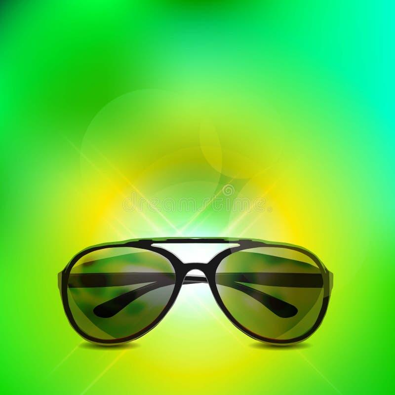 απομονωμένα γυαλιά ηλίου πράσινες επιθυμίες δέντρων απεικόνισης Χριστουγέννων ανασκόπησης απεικόνιση αποθεμάτων
