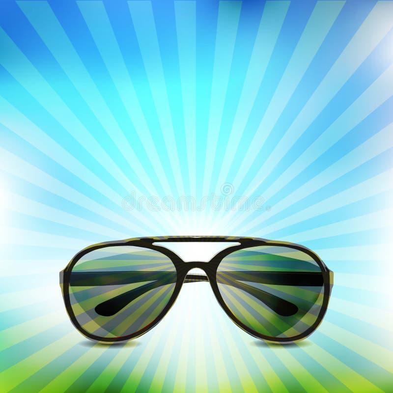 απομονωμένα γυαλιά ηλίου πράσινες επιθυμίες δέντρων απεικόνισης Χριστουγέννων ανασκόπησης ελεύθερη απεικόνιση δικαιώματος