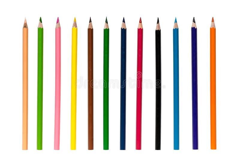 απομονωμένα χρώμα μολύβια στοκ εικόνες