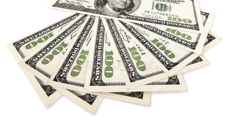 Απομονωμένα 100 US$ τιμολογούν τον ανεμιστήρα στοκ φωτογραφίες
