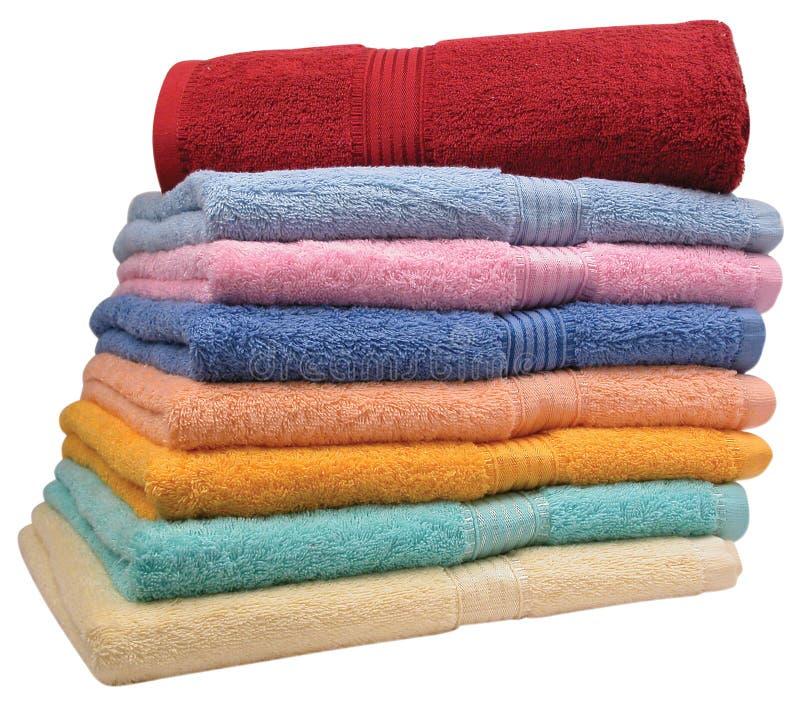 απομονωμένες πετσέτες στοκ εικόνες