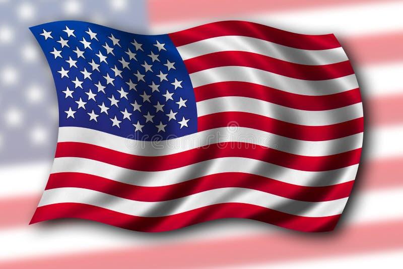 Download απομονωμένες σημαία ΗΠΑ στοκ εικόνα. εικόνα από εικονικός - 1529003