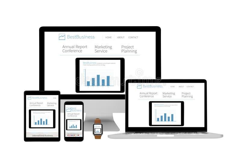 Απομονωμένες συσκευές απαντητικές - επιχειρησιακός ιστοχώρος στοκ εικόνες