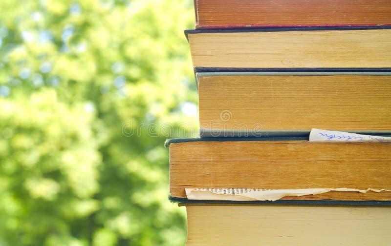 απομονωμένη βιβλία στοίβα σειράς στοκ εικόνες