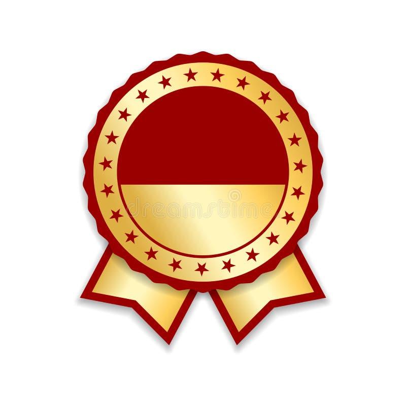 απομονωμένη βραβείο κορ&delta Χρυσό κόκκινο μετάλλιο σχεδίου, ετικέτα, διακριτικό, πιστοποιητικό Καλύτερη πώληση συμβόλων, τιμή,  διανυσματική απεικόνιση