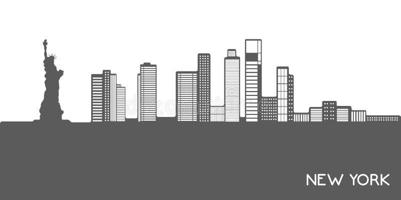 Απομονωμένη εικονική παράσταση πόλης της Νέας Υόρκης ελεύθερη απεικόνιση δικαιώματος