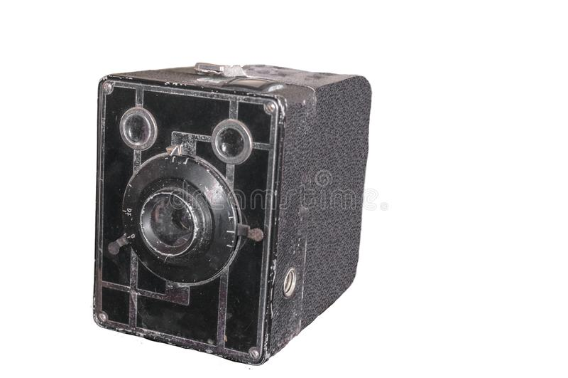 Απομονωμένη εικόνα μιας παλαιάς κάμερας στοκ εικόνες